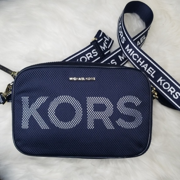 Michael Kors Handbags - NWT MICHAEL KORS ADMIRAL BLUE LARGE CROSSBODY